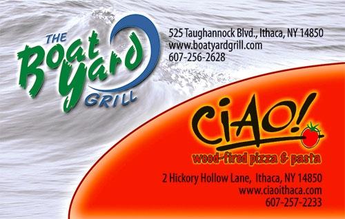 Ciao Restaurant Ithaca Ny Menu
